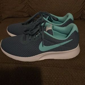 Nike running shoes aqua blue and grey WORN ONCE